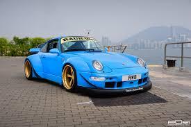 rwb porsche blue pur wheels