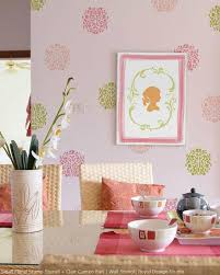 Floral Wall Stencils For Bedrooms Stencil Decorating Ideas In The Pink Allover Lace And Floral