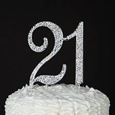 21 cake topper for 21st birthday party supplies