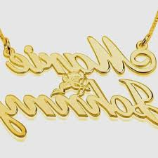 Cursive Name Necklace Gold Necklace With Name In Cursive Inspirational Buy K Gold