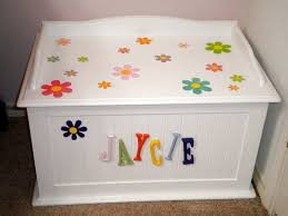 Plans To Make A Wooden Toy Box by Cute Way To Stencil A Child U0027s Toy Box Diy Craft Ideas