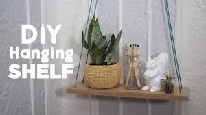 diy hanging shelf video hgtv