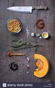 Wooden Kitchen Table Background Wooden Kitchen Table Background With Healthy Cooking Ingredients
