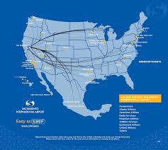 American Route Map by Smf U003e Nonstop Destinations