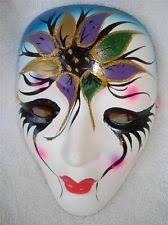 mardi gras ceramic masks new orleans mardi gras mask decortive wall hanging painted