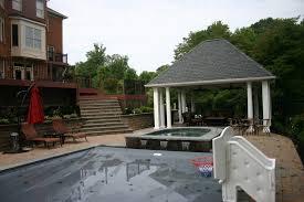 Backyard Pool House by Maryland Md Custom Design Pool House Installation Va