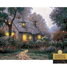 plaid kinkade foxglove cottage paint by number