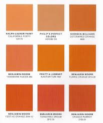 shades of orange names best burnt orange paint color bing images colors pinterest