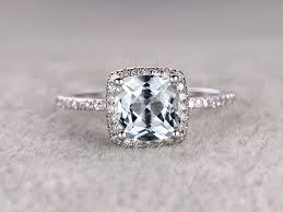 antique gold engagement rings aliexpress buy myray 7x7mm cushion cut genuine blue
