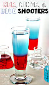 red white and blue shooters recipe blue drinks celebrations