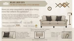 milari linen chair furniture milari linen sofa the home