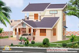 Home Design 3d 2 Storey 2 Story Villa Elevation Design 1592 Sq Ft Home Appliance