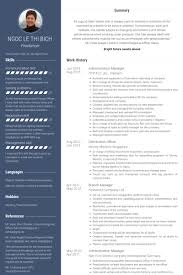 Branch Manager Resume Examples by Administration Manager Resume Samples Visualcv Resume Samples