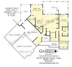 Cottage House Plans With Basement Springs Cottage House Plan Gable House Plans By Garrell