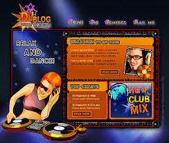 dj page flash template 103 buy unique flash design at web site