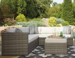 Patio Sectional Furniture - signature design by ashley peckham park outdoor sectional set with