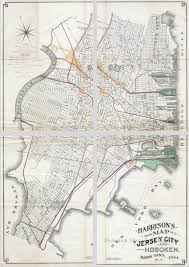 Map Of Hudson County Nj Harrison U0027s Map Of Jersey City And Hoboken Hudson County N J