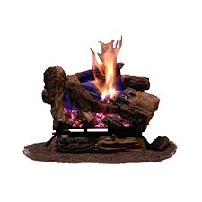 emberglow appalachian oak 24 in vented natural gas fireplace logs