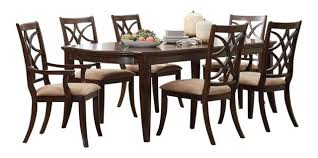 7 dining room set keegan 7 dining room set brown cherry transitional dining