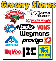 popular grocery stores logos trademarks grocery stores collection by innovative clip art
