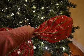 christmas tree ribbon kristen s creations decorating a christmas tree with mesh ribbon