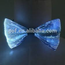 light up bow tie novelty fiber optic fabric glow electronic light up flashing led