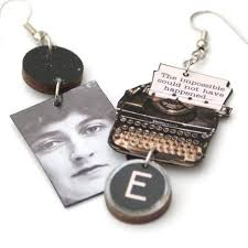 agatha earrings agatha christie typewriter earrings the literary gift company