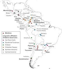 Latin America Map Countries by Geographic Patterns Of Genome Admixture In Latin American Mestizos