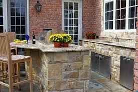 Outdoor Kitchen Countertops Ideas Outdoor Kitchen Designs With Uncovered And Covered Style Helping