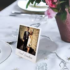 Table Place Cards by Personalised Mini Stand Up Place Setting Photo Cards By