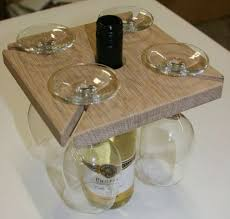 how to make your own wine bottle and glass holder