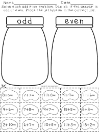 addition pack odd and even answers with jellybeans i am going to