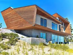 wood concrete and sculptural beauty mesmeric cape cod beach house