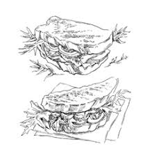 sketch of bread and spikes royalty free vector image