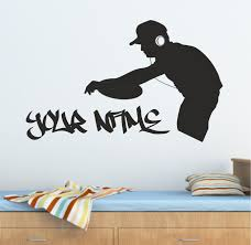 music wall art stickers shenra com the grafix studio personalised graffiti dj decks music wall art