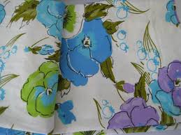 vintage queen bed sheets pansy flowers purple flower bedding blue