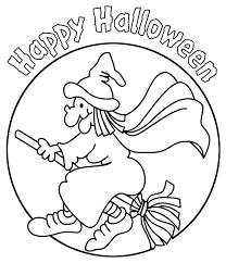 hallowen coloring pages happy halloween witch coloring page coloring halloween