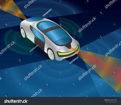 futuristic cars futuristic car various sensors remote sensing stock vector