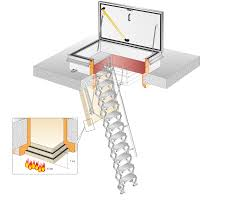 roof hatch rht7014 with scissor stair ei 60 fire rated 60 minutes