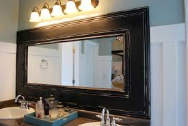 Framing An Existing Bathroom Mirror Diy Large Photo Frames Dzine Builders Warehouse Buy