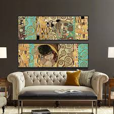 home decor wall artistes gustav klimt le baiser et home decor wall affiche