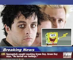 Breaking News Meme - breaking news spongebob caught mocking green day green day says