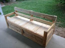 patio chair u0026 storage box made with pallets wooden pallet