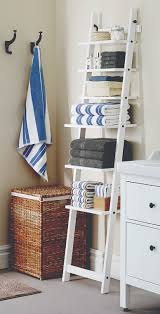 Bathroom Wicker Shelves by