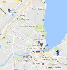 geneva map geneva switzerland