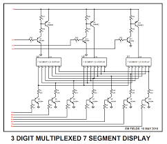 7segmentdisplay driving large common anode 7 seg led with npn