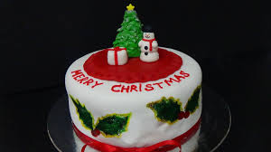 how to make cake merry christmas youtube