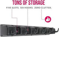 Organizer For Garage - broom holder garden tool organizer for garage storage 5 slots and