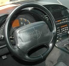 1992 Corvette Interior C4 Corvette 1990 1996 Reproduction Black Leather Steering Wheel