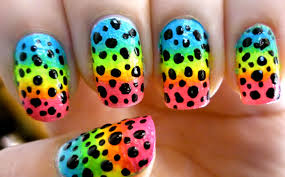 gradient ombre nails dotted rainbow nail art youtube